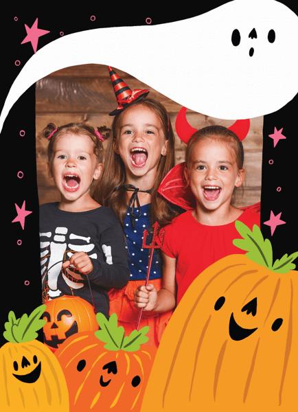 Pumpkins And Ghosts