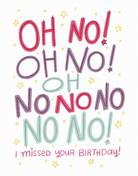 Oh No Birthday