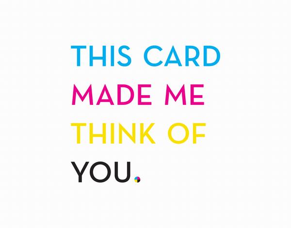 CMYK Friendship Card