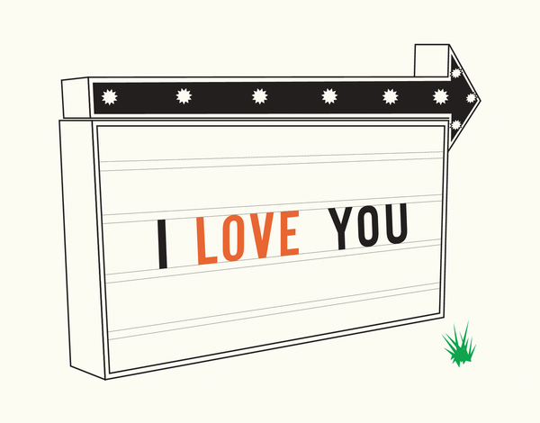 Road Sign Love You Card