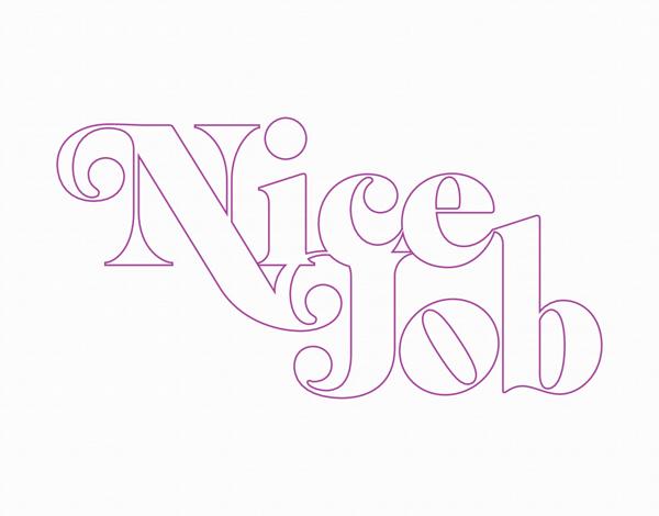 Typographic Nice Job Card
