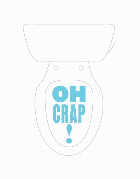 Funny Toilet Apology Card