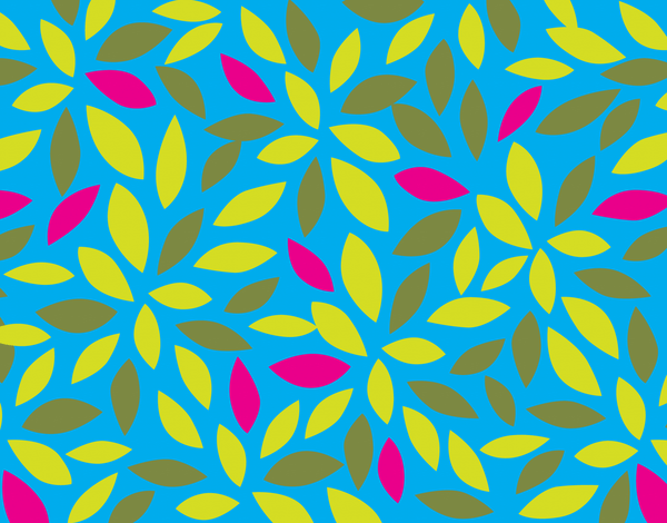 Graphic Leaf Pattern Stationery