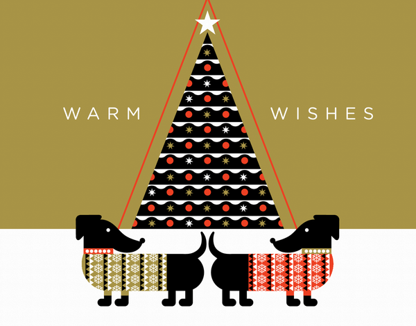 Dogs in Sweaters Holiday Card