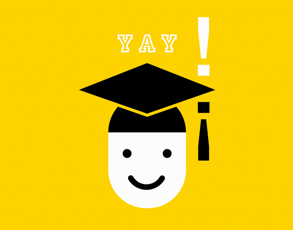 Yellow  Graduation Congratulations Card
