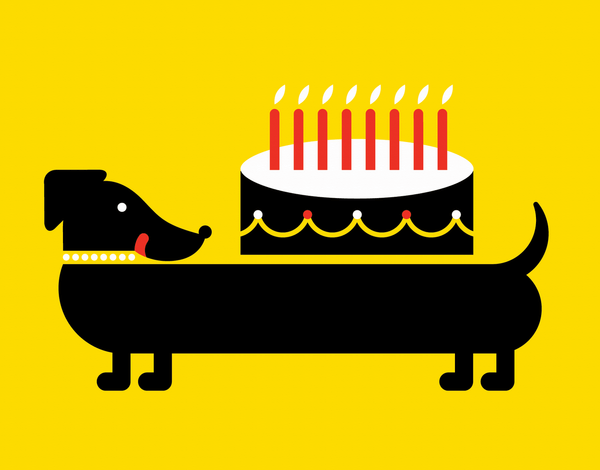 Daushund Birthday Card