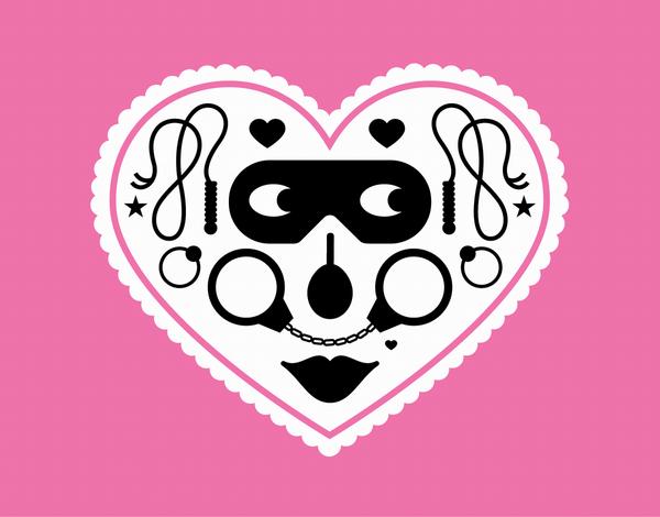 Kinky Heart Valentine's Day Card
