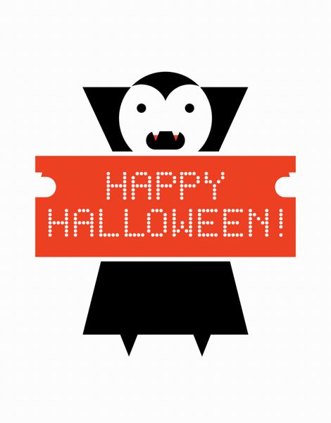 Vampire Halloween Card