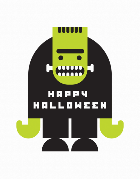 Frankenstein Halloween Card