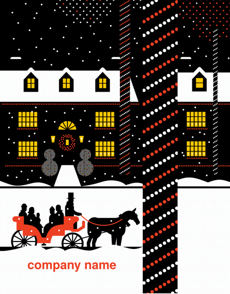 Horse Carriage Business Holiday Card