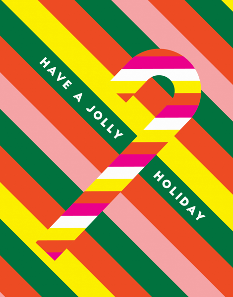 Jolly Holiday Candy Cane