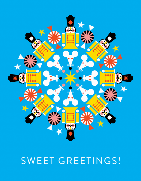 bright nut cracker sweet greetings card