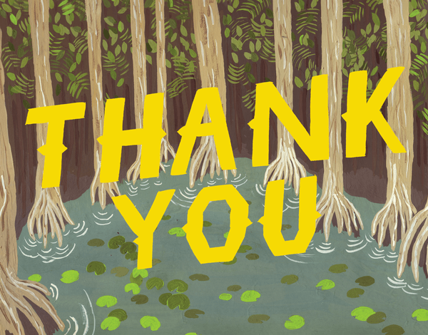Yellow Swamp Thank You Card