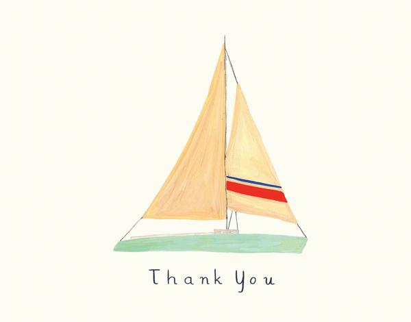 Elegant Sailboat Thank You Card