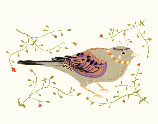 Decorative Bird Greeting Card