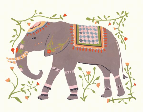 Eastern Elephant Greeting Card