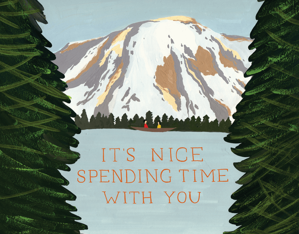 Mountain and Lake Greeting Card