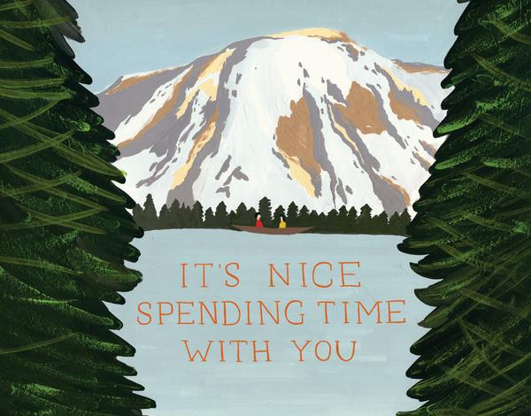 Mountain and Lake Greeting Card