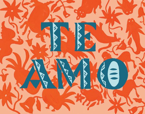 Festive Te Amo Love Card