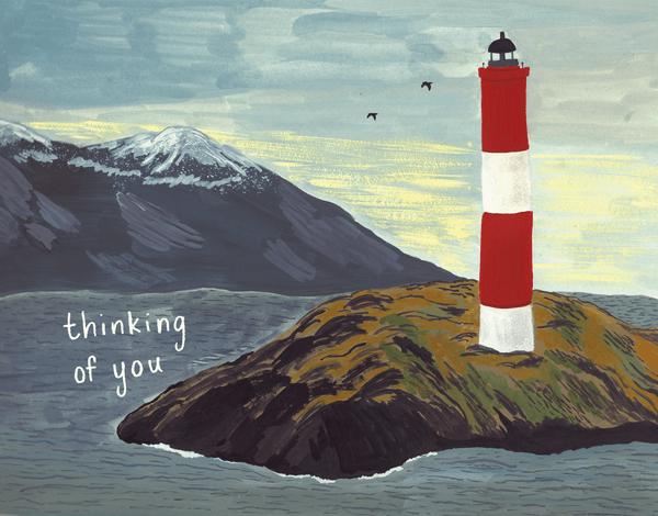 Lighthouse Sympathy Card