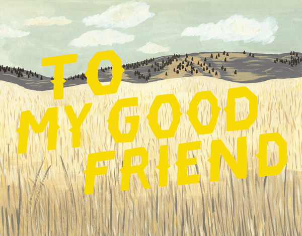 Cornfield Scenery Friendship Card