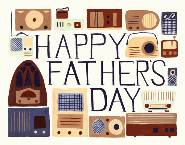 Painted Radio Father's Day Card