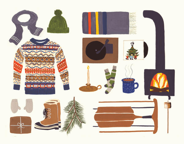 Cozy Winter Things Stationery