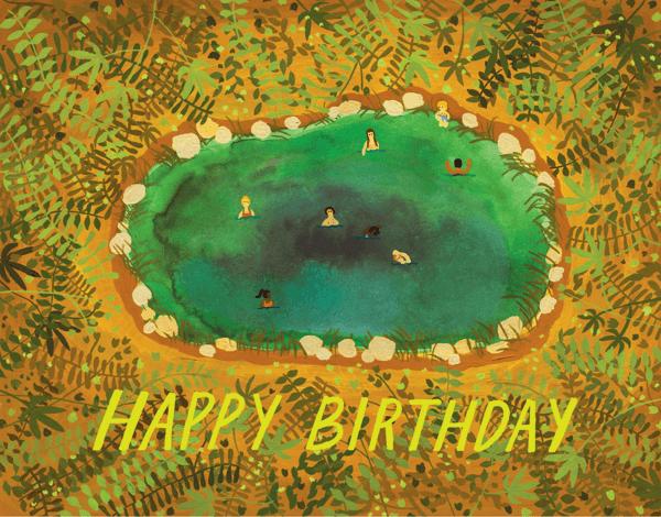 Hot Springs Birthday Card