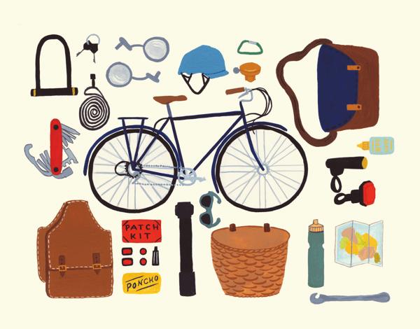 Cycling Gear Art Card
