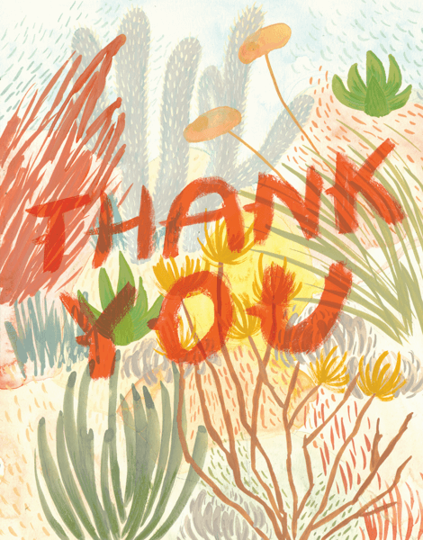 Painted Desert Thank You Card