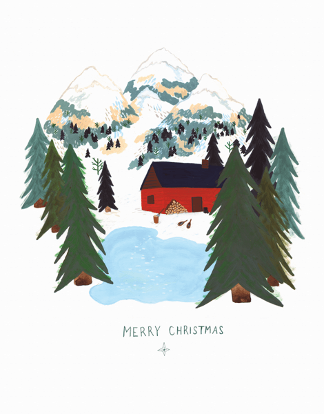 Mountain Home Christmas Card