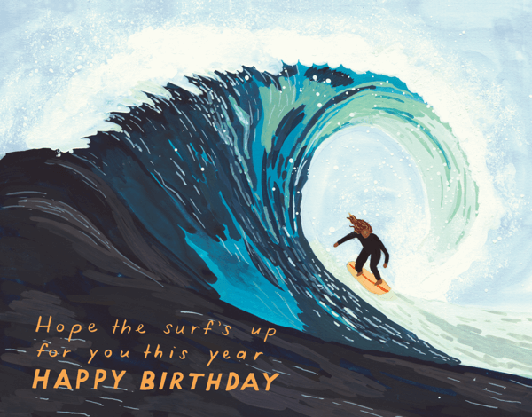 Surf's Up Birthday Card