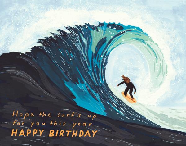 Surf's Up Birthday Card