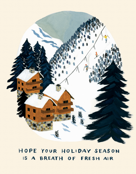 unique hand painted christmas card