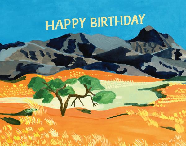 Orange Desert Birthday