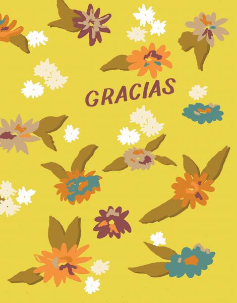 Gracias Yellow Floral