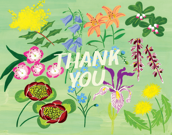 Mint Floral Thank You