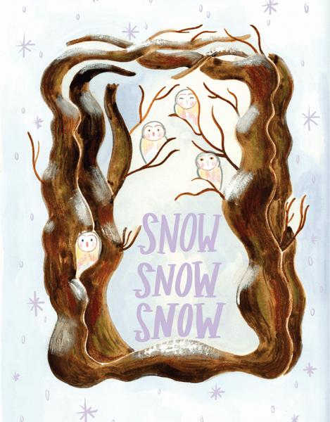 Snowy Owl Tree