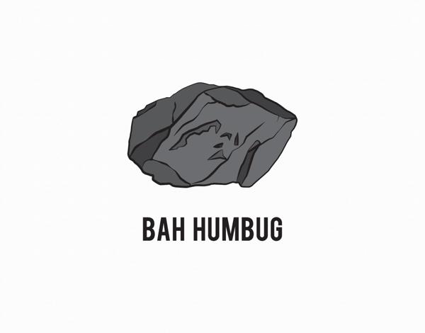 Coal Bah Humbug Holiday Card