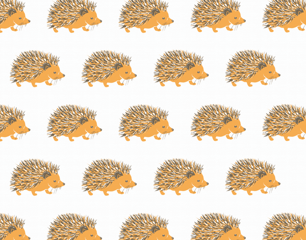 Hedgehog Patterned Stationery