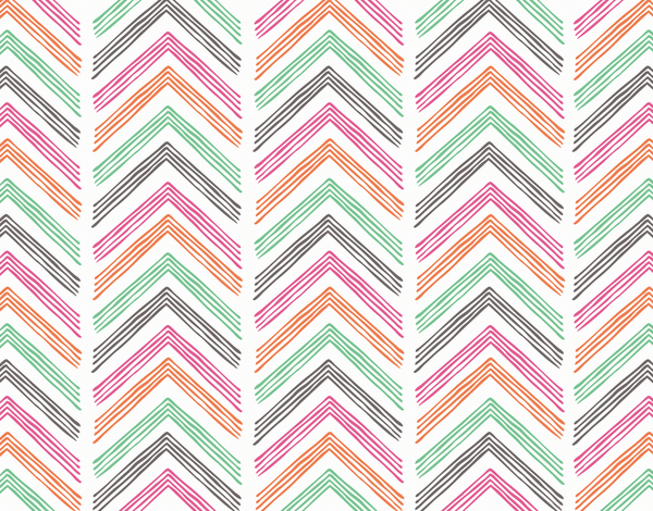 Doodled Chevron Stationery
