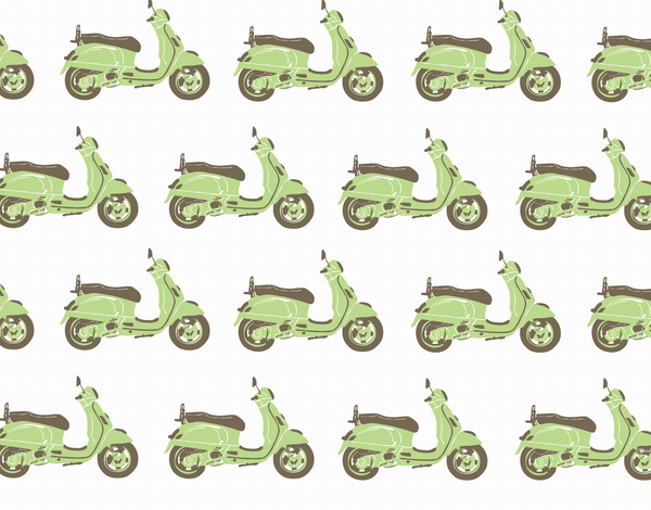 Vespa Printed Stationery