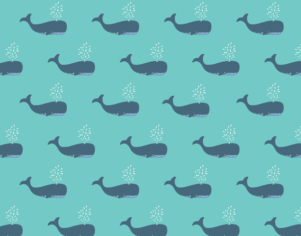 Whales Printed Stationery