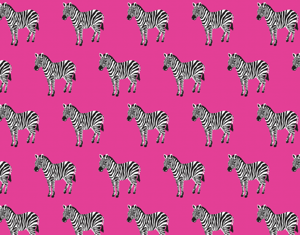 Pink Zebra Stationery