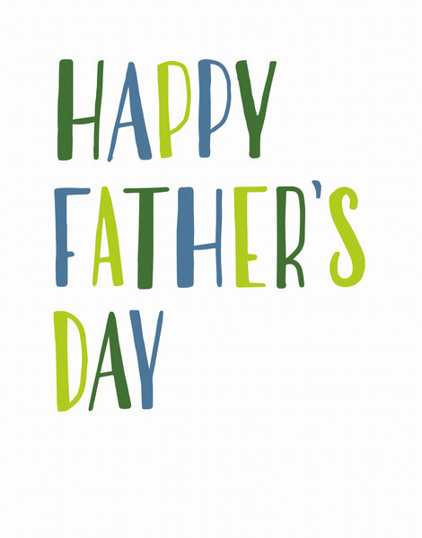 Simply Lettered Father's Day