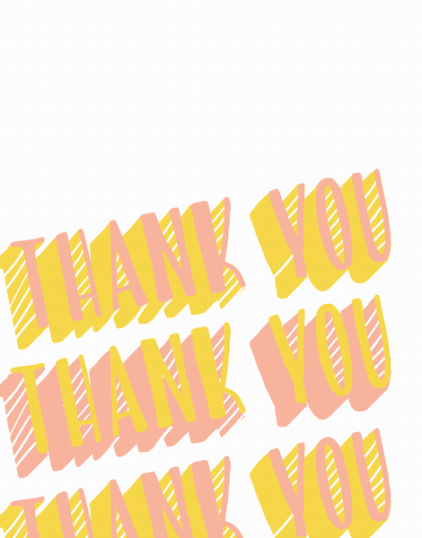 Warm 3D Thank You