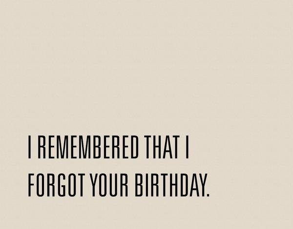 Funny Belated Birthday Card