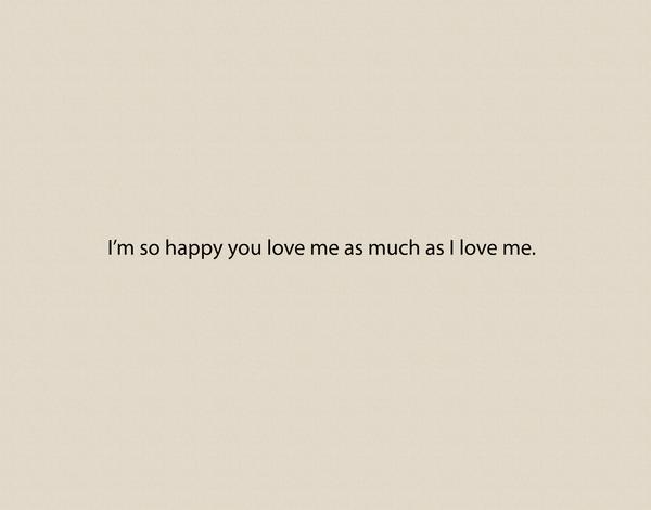 Sarcastic Love Card
