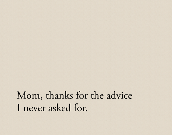 Simple Sarcastic Mother's Day Card