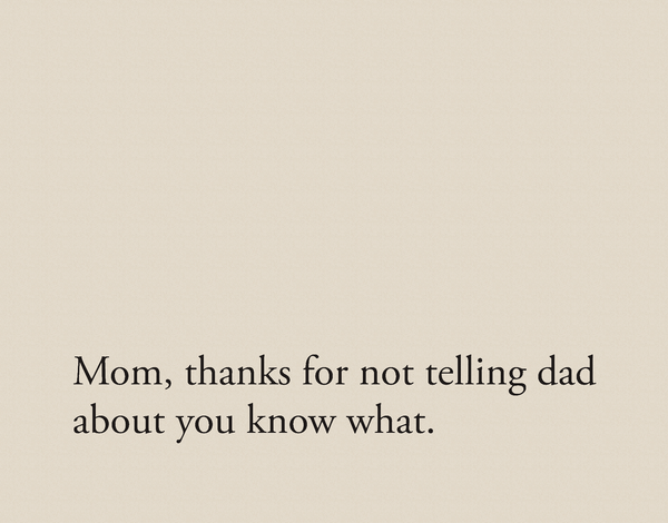 Simple Funny Mother's Day Card
